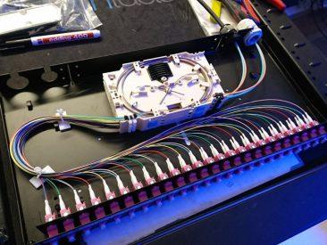 """Glasvezel Optic Fiber patchpaneel 19"""" fusielassen afmonteren glasvezel"""