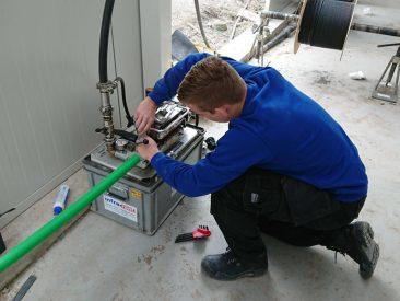 blazen glasvezelkabel monteur haspel